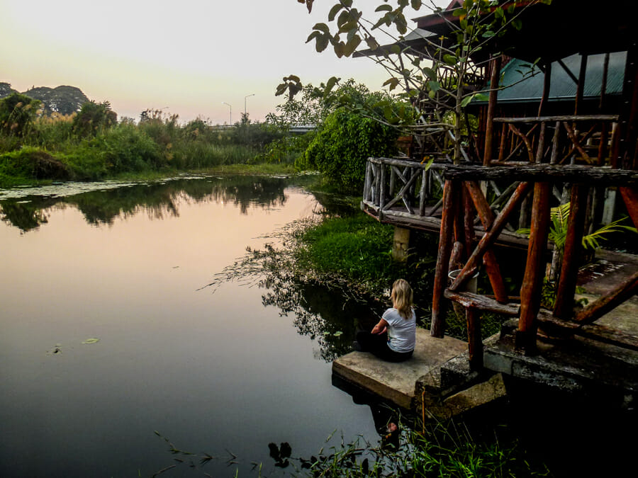 cabane sur l'eau thailande