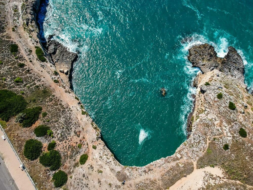 Pouille plage vue drone