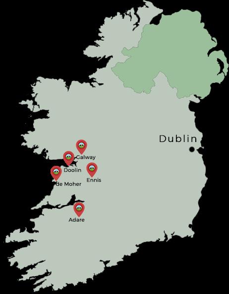carte road trip irlande