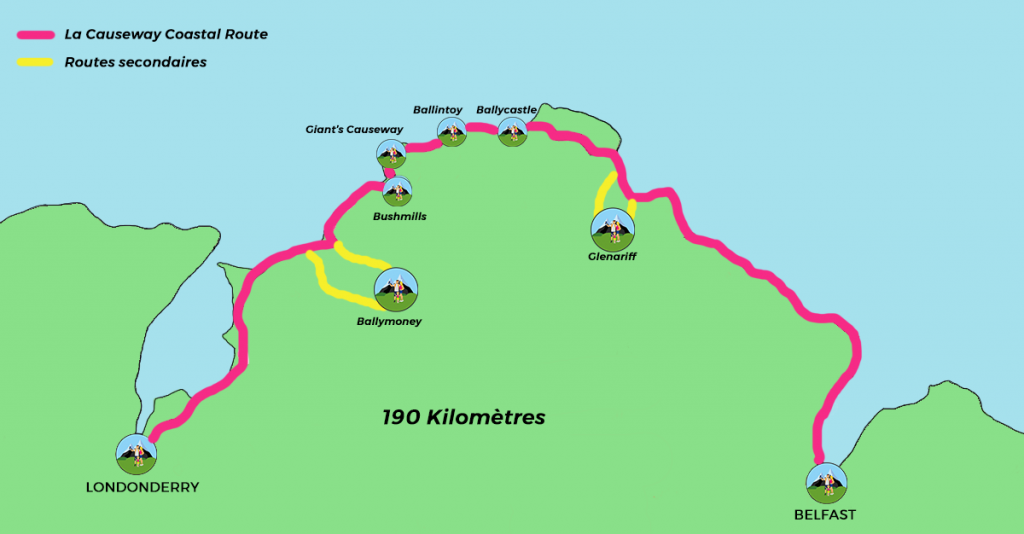 carte Causeway Coastal Route