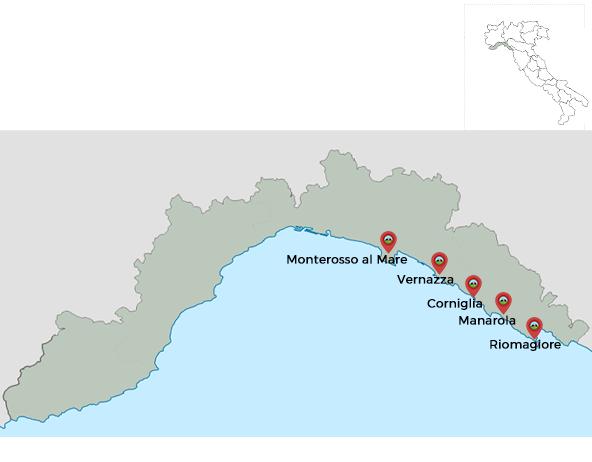les 5 terres italie carte