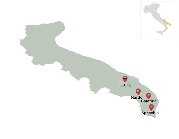 carte italie pouilles lecce