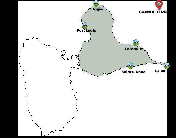 carte grande terre gaudeloupe