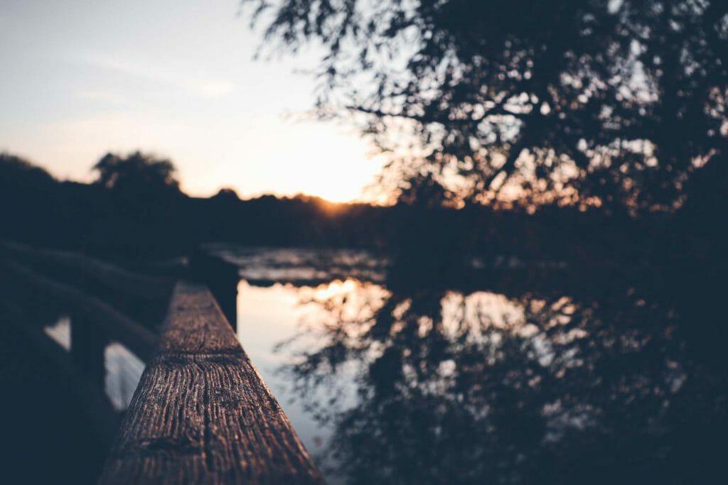 coucher soleil marais des cavins