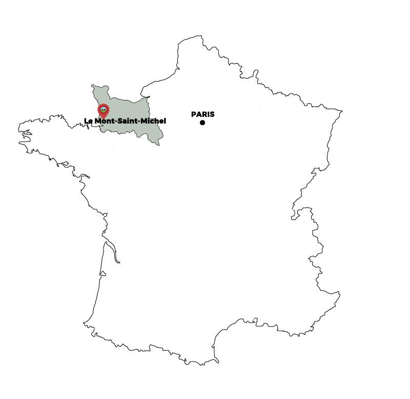 carte mont saint michel