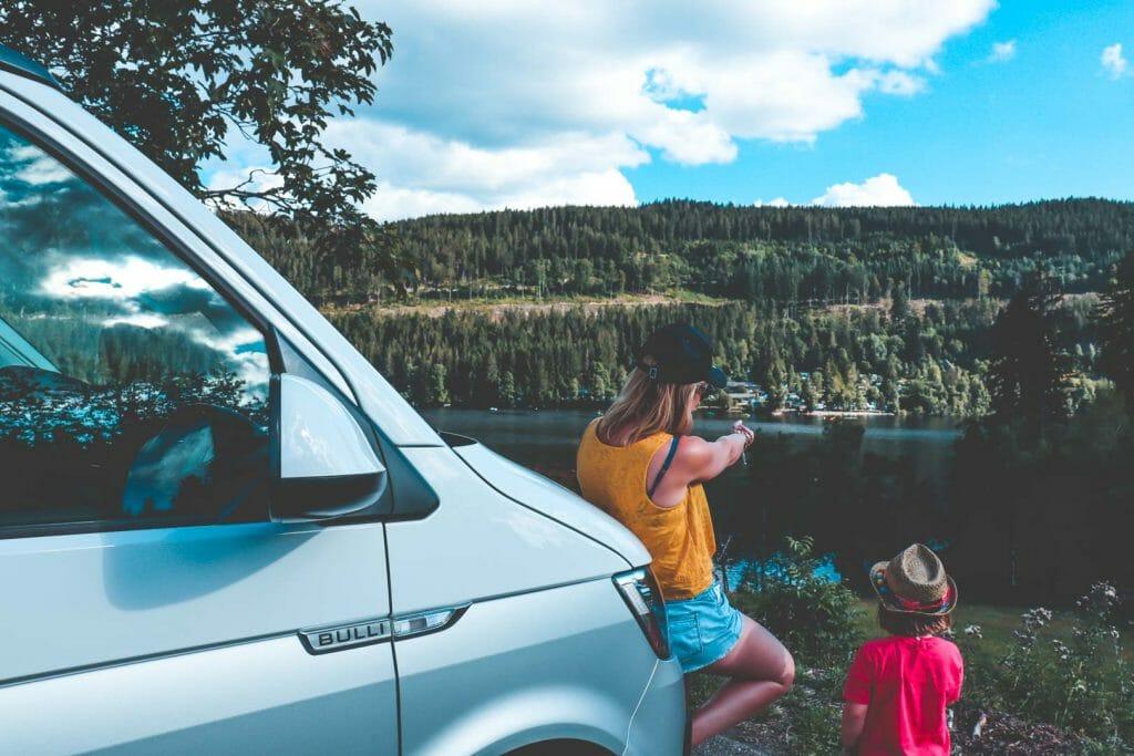 vue sur le lac foret noire