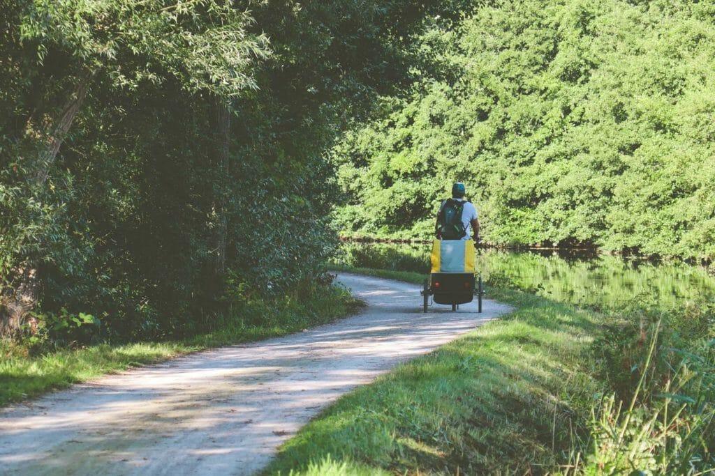 vélo chemin du halage