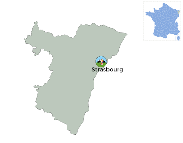 carte pour situer Strasbourg