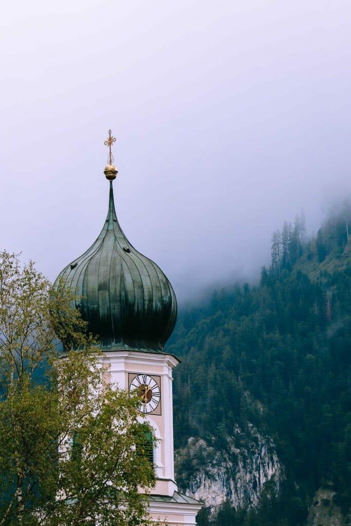 clocher village d'Oberammergau