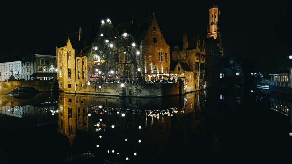 canal hiver bruges
