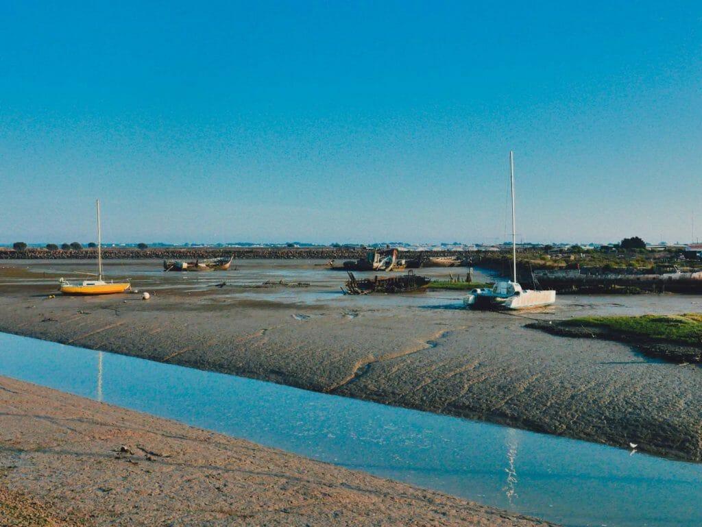 port noirmoutier marée basse