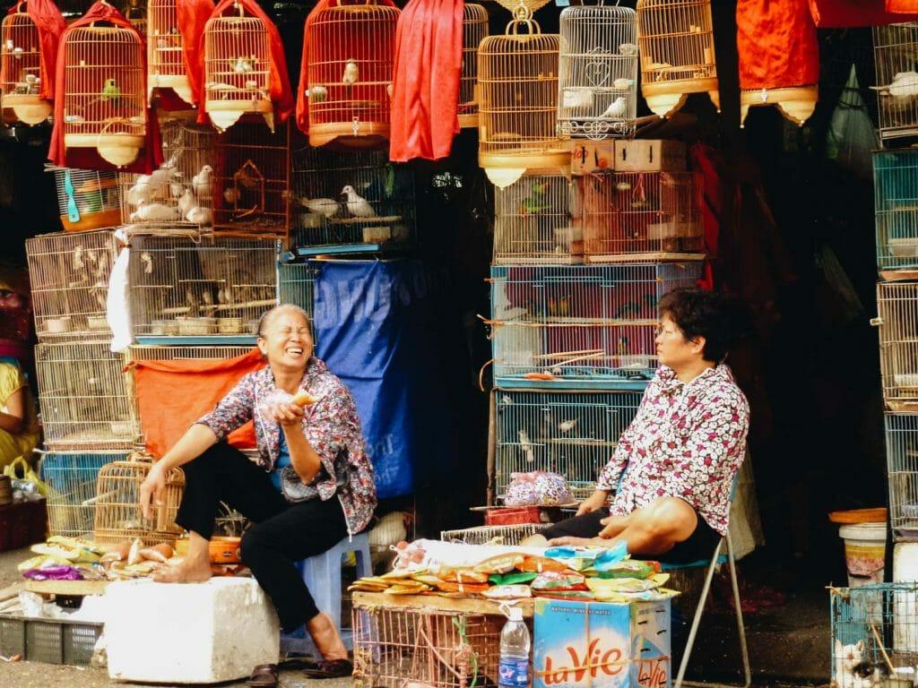marché hanoi vietnam