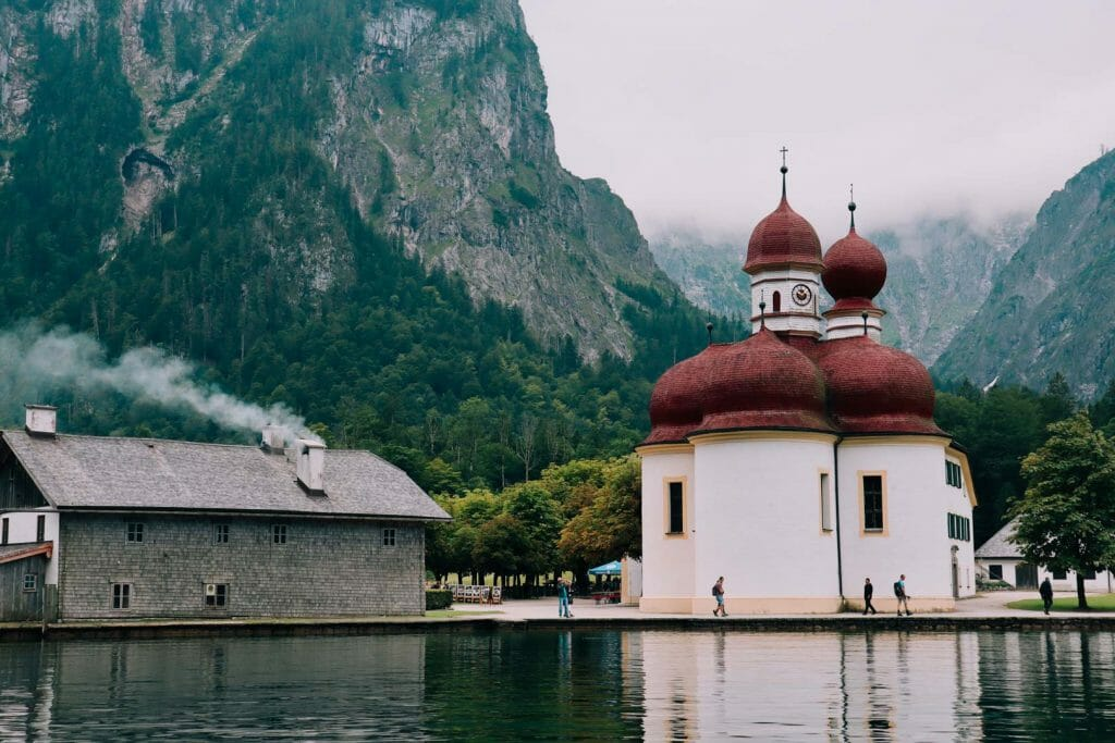 lac konigssee église saint bartholoma