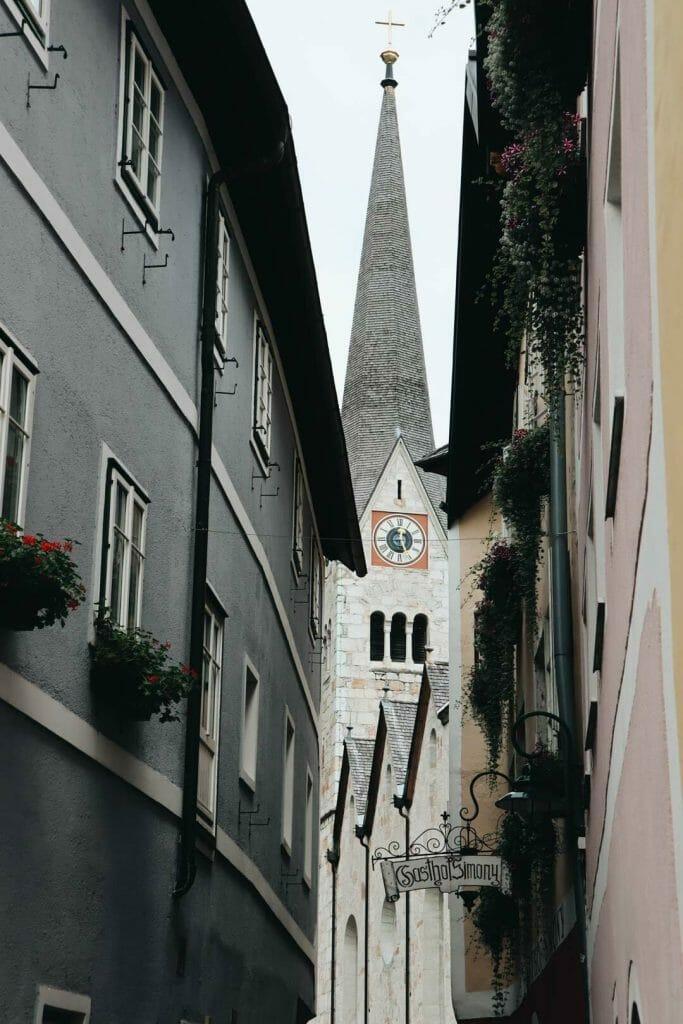 clocher village d'Hallstatt