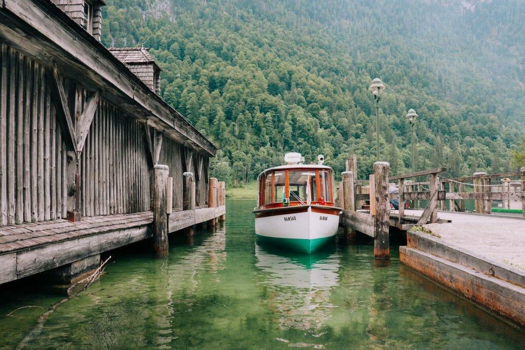 bateau électrique lac konigssee
