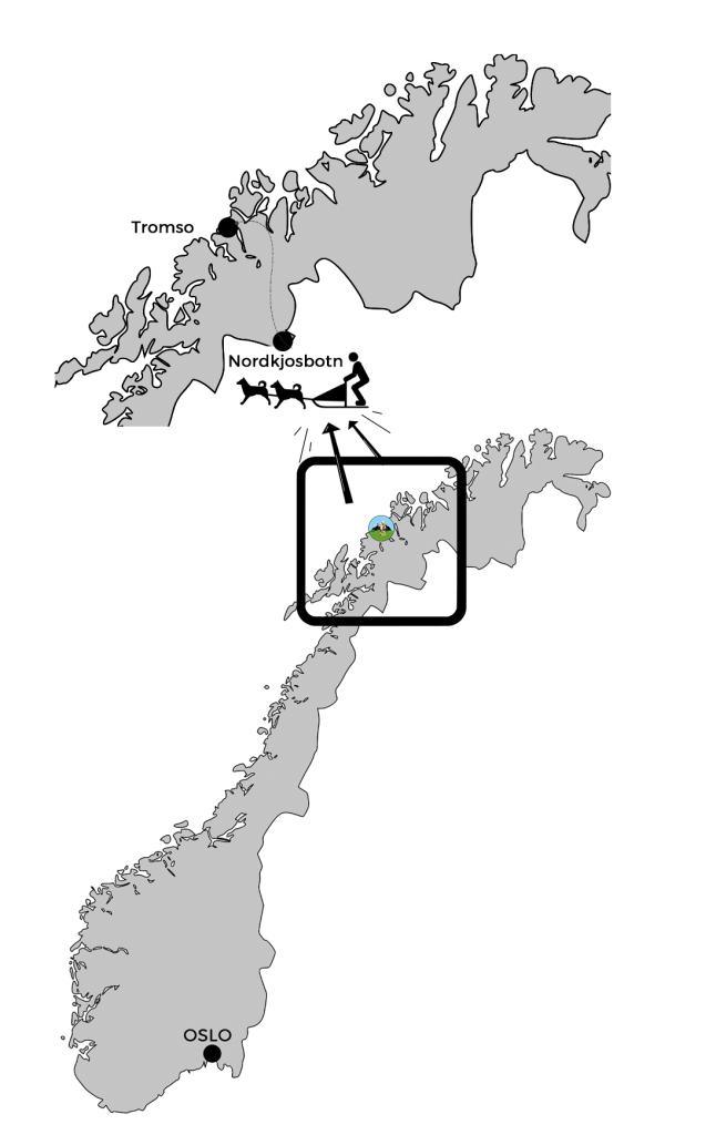 carte norvége chien de traineau