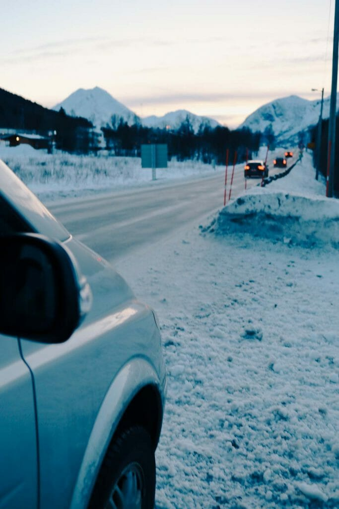 route glace norvège