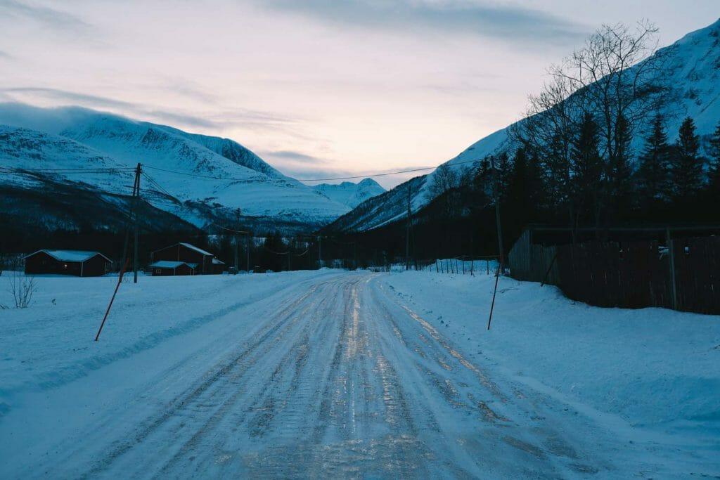 route neige montagne norvege