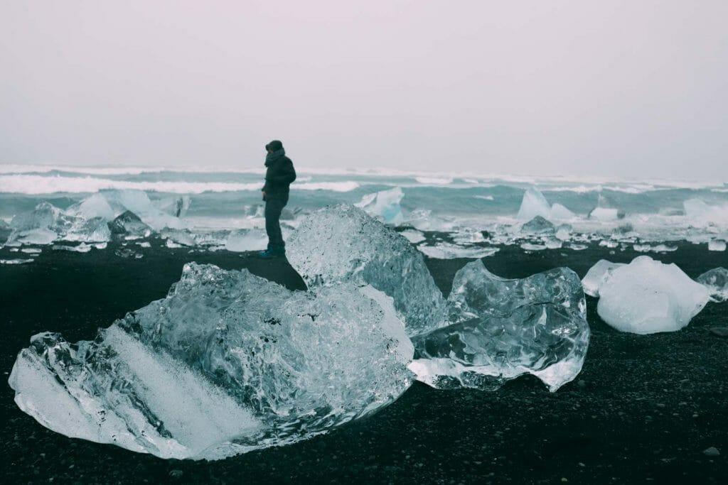 plage de diamants islande