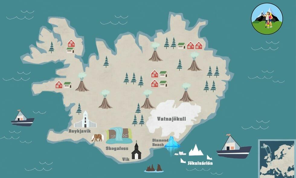 carte cercle d'or islande