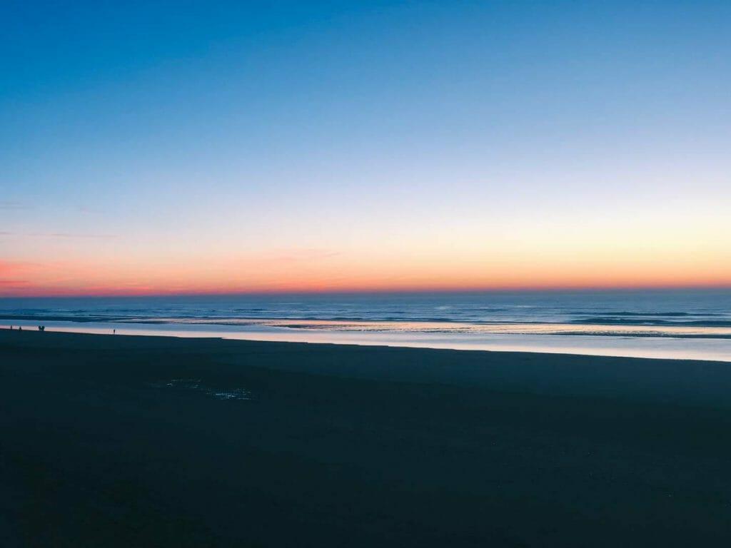 coucher de soleil quend plage