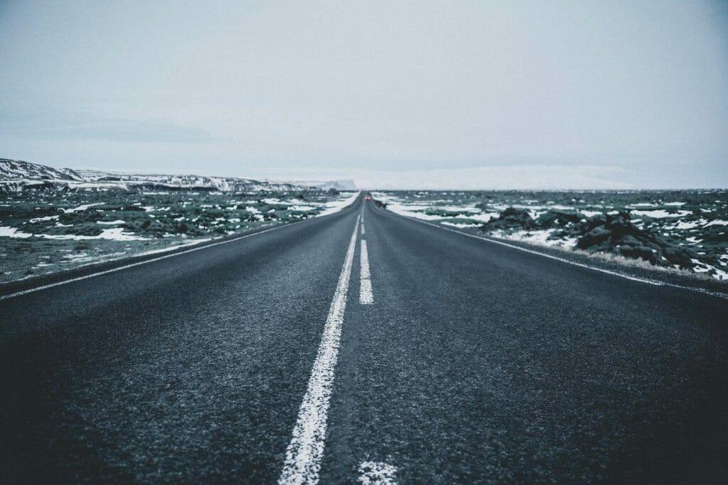 route islandaise hiver