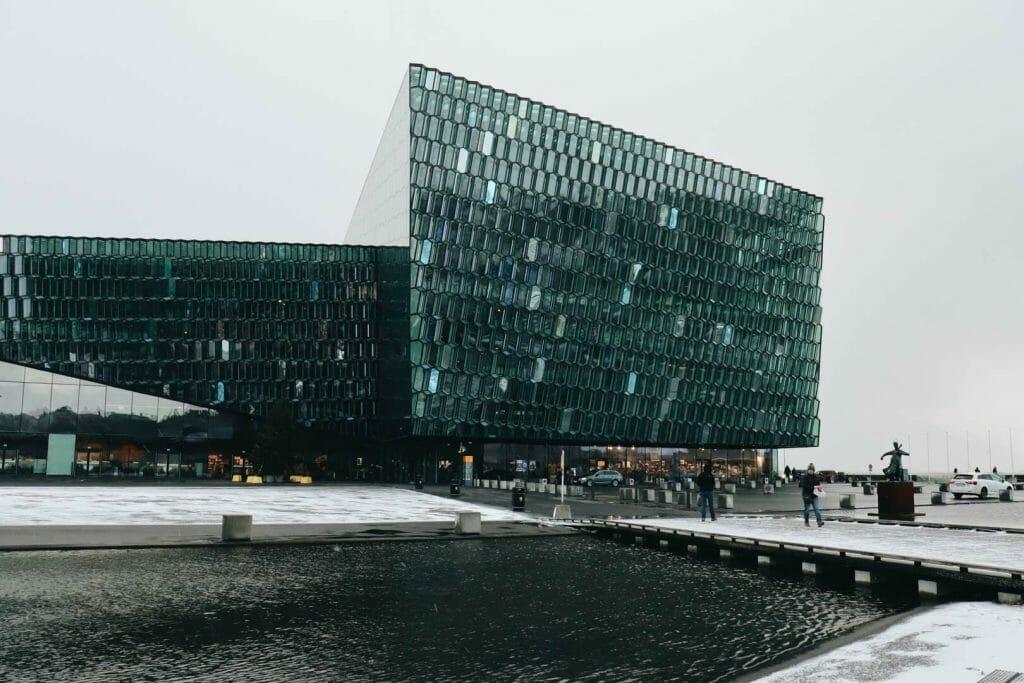 harpa reykjavik en hiver