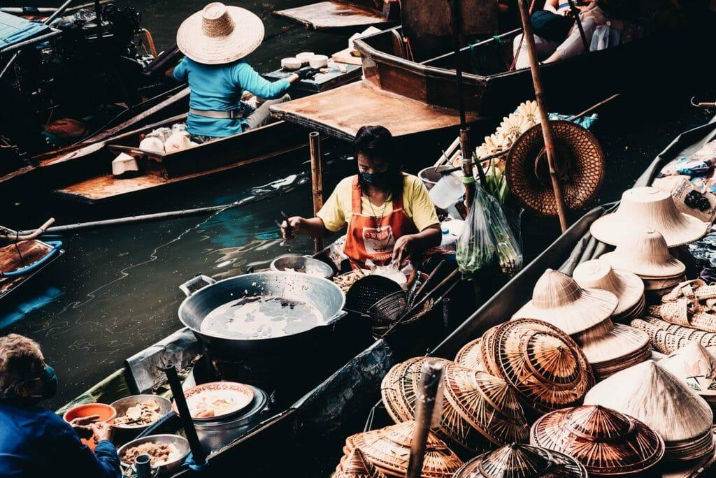 marché flotant bangkok