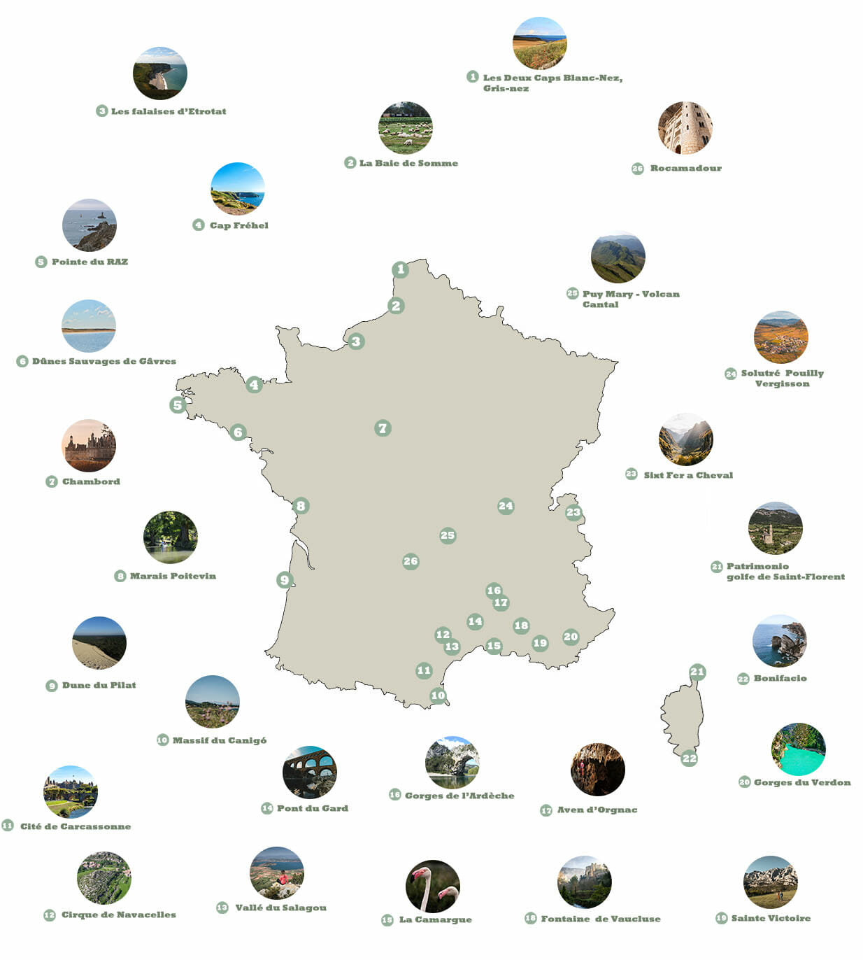 Cartes grands sites de France