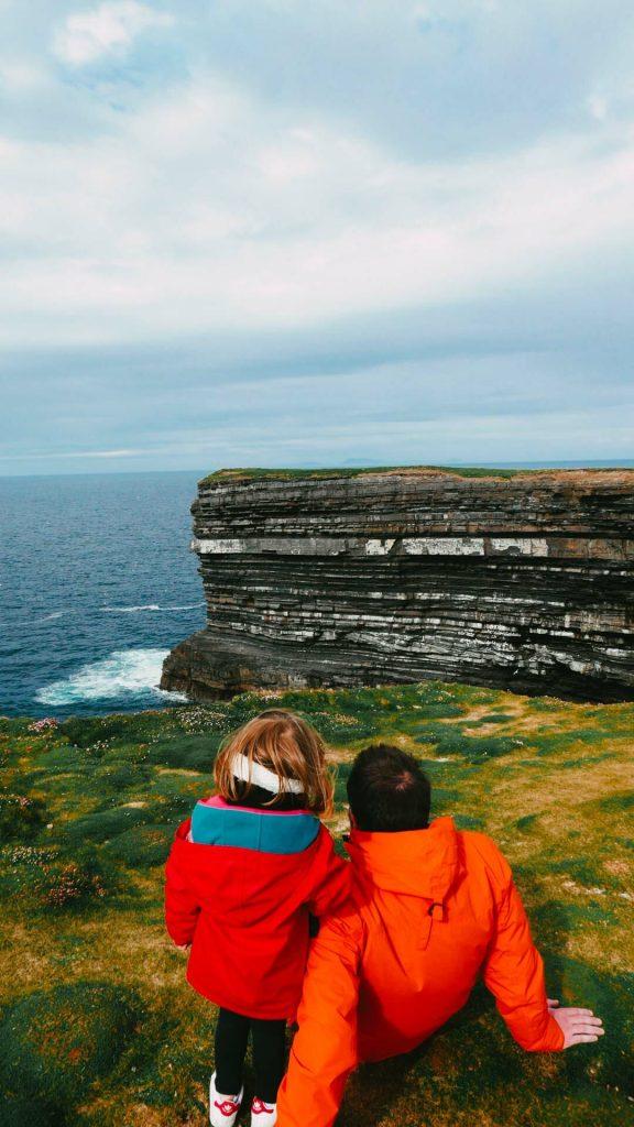 falaises downpatrick head irlande