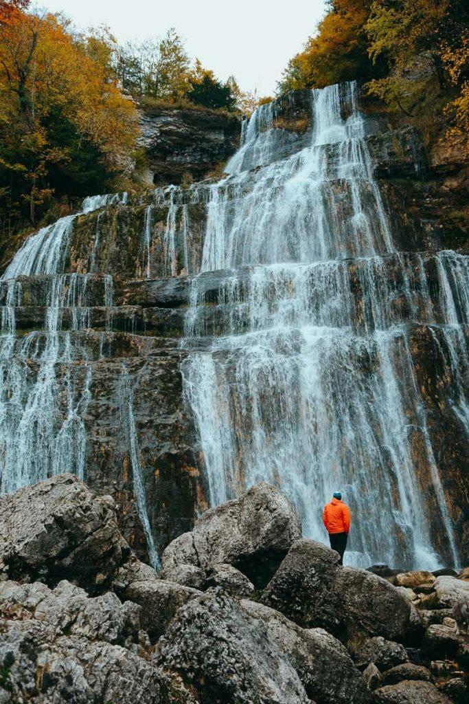 cascade du hérisson l'éventail
