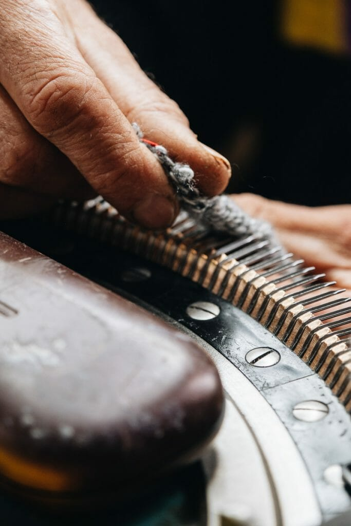 fabrication chaussette aube